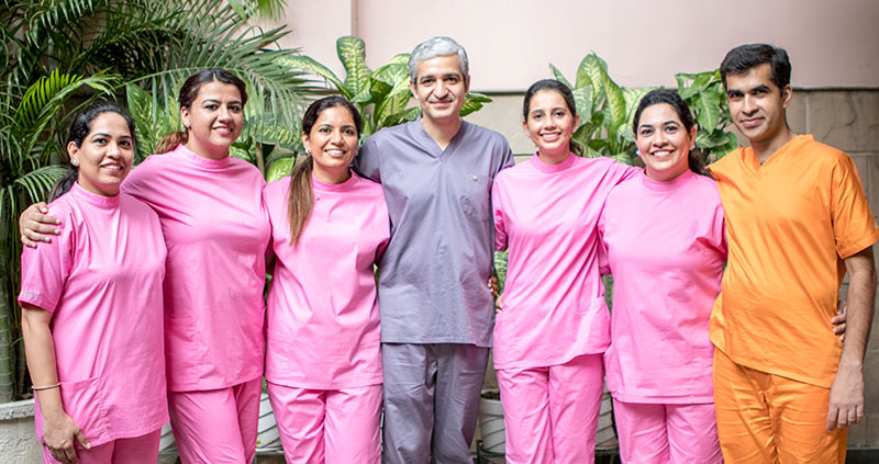 Team of Multi-specialty dentists in Vasant Vihar Delhi, Sterling Dental Clinic team